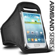 Fascia braccio Sport per Galaxy S3 Mini bracciale Armband fitness corsa Nera