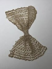 More details for antique lace collar bow jabot cream crochet edwardian cotton retro fabric old