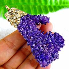 Delicate Nice Purple Coral Fossil Free Shape Pendant Bead 67*36*17mm AT18492
