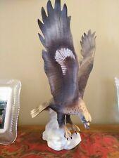 ORIGINAL Large ROYAL DUX Swooping Golden Eagle Porcelain Figurine
