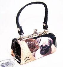 Mops  Mini Bags Geldbörse Mopsi mit Glitzersteinen Mario Moreno Tasche Hund Neu