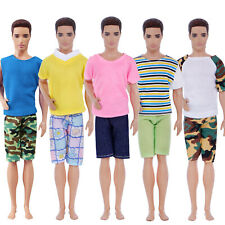 5 Sets Shorts Shirt Pants Fashion Casual Daily Dress Clothes For 12in. Ken Doll