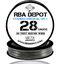 RBA Depot Titanium Surgical Gr.1 Competition Resistance Wire 28 Gauge AWG 30 ft