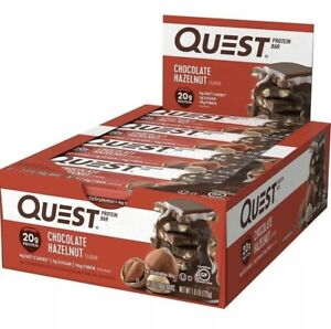 Quest Nutrition Bars High Protein Chocolate Hazelnut Gluten-free 12 Count