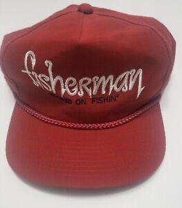 Fisherman Hat  - Rare Original Men's Vintage Outdoors Fishing Hat - Made In USA