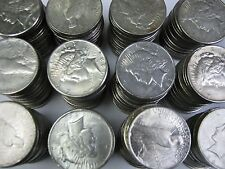 (100) Liberty Peace Silver Dollar United States Coins with nice Details