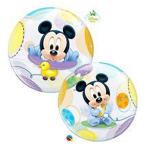 Ballon Bubbles Qualatex 56cm de diametre Mickey Baby Disney Baby