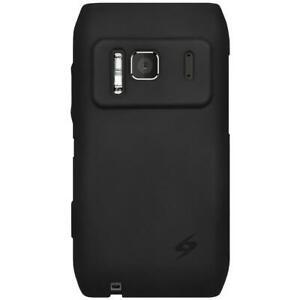 AMZER Silicone Skin Jelly Case for Nokia N8 - Black