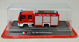 DelPrado City 2000 IVECO EuroFire Fire Truck 1:72 Scale Mint With Unopened Box