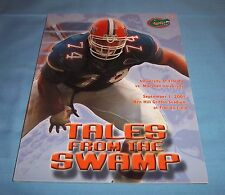Florida Gators vs Marshall Football Game Program Magazine 2001 Zedalis