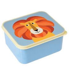 dotcomgiftshop COLOURFUL CREATURES DESIGN KIDS BLUE LUNCH BOX - LION