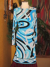 MICHAEL KORS NWT $110 0X women's dress turquoise retro disco SUMMER BLUE blue