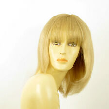 wig for women 100% natural hair light blond ref ISA 22 PERUK