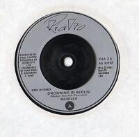 "Mobiles - Drowning In Berlin 7"" Single 1981"