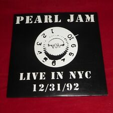 Pearl Jam CD Live In NYC 12/31/92 New Year's Eve