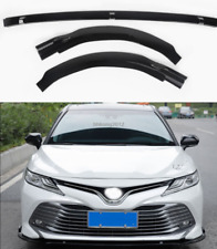 For 2018 Toyota Camry XLE LE ABS Bright Black Front bumper cover trim model 3PCS