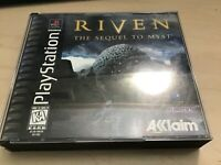 Riven: The Sequel to Myst Sony PlayStation 1 PS1 Complete 5 Discs Manual RARE