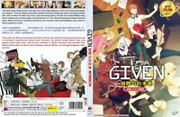 Given (Chapter 1 - 11 End) ~ 2-DVD SET ~ English Subtitle ~ All Region ~ Anime