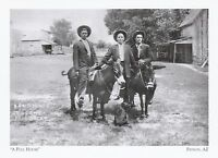 "*Arizona Postcard-""Full House"" (3 Jokers & Pair of Jacks) /1900/ *Payson- (A325)"