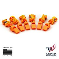 AMERICAN WHISTLE - PATRIOT PERSONAL SAFETY WHISTLE & LANYARD (6 PACK)