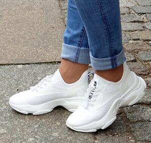 STEVE MADDEN Schuh Match SM11000442-04004-002 Weiß Damen Sneaker Textil