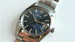Tudor Watch Prince Oyster Date Ref.9050 Automatic Blue Dial Made in 1969