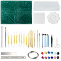 43Pcs/Set Professional Polymer Clay Tools Pottery Modelling Sculpting Kit