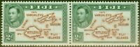 Fiji 1938 2d Brown & Green SG253 V.F MNH Pair