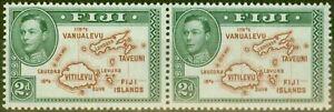 Fiji 1938 2d Brown & Green SG253 V.F MNH Pair