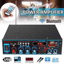 800W Digital Stereo Amplifier bluetooth Audio Tuner USB SD FM Aux Mic Car