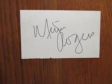 "MIMI  ROGERS (""Two and a Half Men/Lost  in  Space"") Signed  3  x  5  Index  Card"