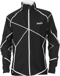 Swix Elite cross country ski jacket mens black Medium