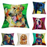 3D Printed Dog Schnauzer Dachshund Cushion Cover Home Decor Linen Pillow Case