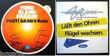 Aufkleber FORD AUDIO Sound 2000 Klangparade Taunus Granada Capri Escort Sticker