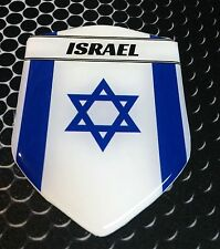 "Israel Proud Shield Flag Domed Decal Emblem Sticker Crest Flexible 3D 2.3""x 3.3"""