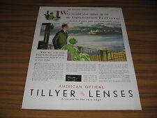 1930 Print Ad American Optical Wide-Angle Tillyer Lenses Lens for Glasses