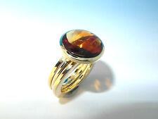 Unbehandelte runde Ringe aus Gelbgold mit Edelsteinen