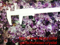 100g Wholesale NATURAL Purple Octahedral Fluorite QUARTZ Crystal body gem