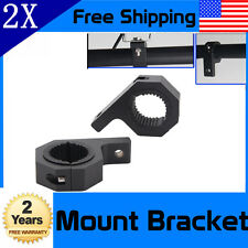 2X 1''~2''IN  Led HID Work Light Bull Bar Mounting Bracket Tube Roll Clamp Mount