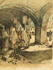 Luigi Kasimir pencil signed Sieniawa Galicia, Poland, lithograph engraving 1915