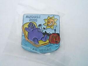 NOS Vintage McDonalds Advertising Enamel Pin #07 - 2000 LAS VEGAS - GRIMUS