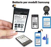 ricambio BATTERIA mah per modelli SAMSUNG Galaxy S2 S3 S4 S5 S6 Edge S7 S8 plus