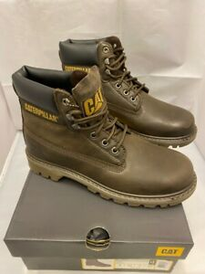 Mens CAT Caterpillar Colorado Brown Leather Lace up Desert Boots Size UK 7 41