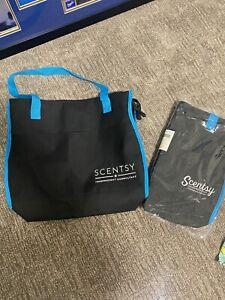 NEW Scentsy Tote Bag Purse Black And Aqua