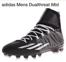 New Adidas Football Cleats Black Silver Athletic Sports Men s Sz 13 Mid  Tech NWT b663170e3