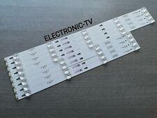 8 BARRETTES LEDS  COMPATIBLE AVEC THOMSON 55UV6206