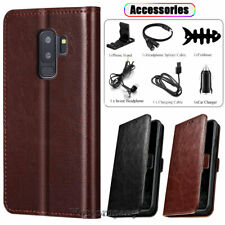 Samsung Galaxy S9/S9 Plus Leather Flip Wallet Case Phone Cover Stand / Accessory