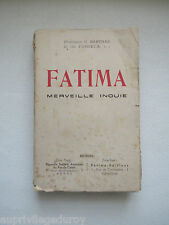 FATIMA, MERVEILLE INOUÏE, par Barthas et Fonseca, 1942.