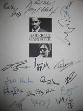 American Gangster Signed Film Script X16 Denzel Washington Russell Crowe RZA rpt