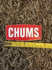 "Chums Eyewear Sticker Decal Red Retainer Sunglasses Skate Surf Eye Wear 3.5"""